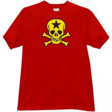 Russian Star Skull T-shirt in red