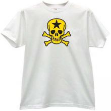 Russian Star Skull T-shirt in white