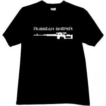 Russian Sniper Cool T-shirt in black