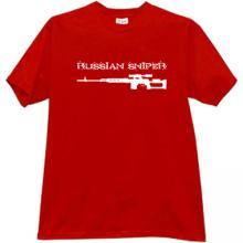Russian Sniper Cool T-shirt in red