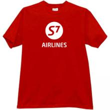 S7 Airlines Russian T-shirt in red