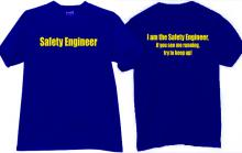 Safety Engineer Funny T-shirt in blue