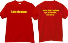 Safety Engineer Funny T-shirt in red