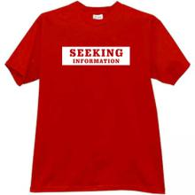 SEEKING INFORMATION T-shirt in red