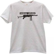 Serial Lover Funny T-shirt in gray