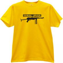 Serial Lover Funny T-shirt in yellow