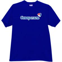 Severstal Cherepovets Hockey Club Russian T-shirt in blue
