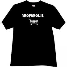 Shopaholic Funny T-shirt in black