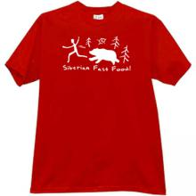 Siberian Fast Food! Funny T-shirt in red