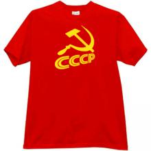 Sickle and Hammer CCCP USSR Soviet Russian emo T-shirt