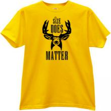 Size Does Matter Funny T-shirt in yellow