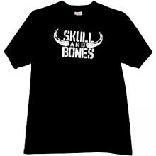 Skull and Bones Funny T-shirt in black