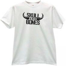 Skull and Bones Funny T-shirt in white