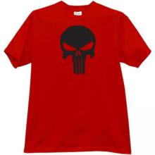 Skull T-shirt in red
