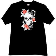 Skull with Rose Cool T-shirt