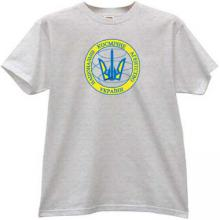 State Space Agency of Ukraine T-shirt in gray