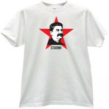Stalin Russian Leader T-shirt in white