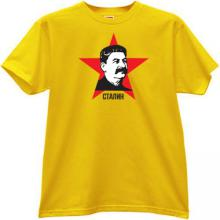 Stalin Russian Leader T-shirt in yellow