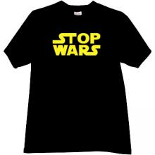 STOP WARS Cool T-shirt in black