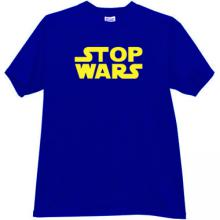 STOP WARS Cool T-shirt in blue