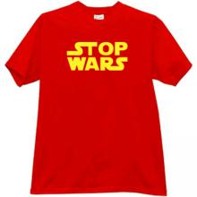 STOP WARS Cool T-shirt in red