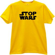 STOP WARS Cool T-shirt in yellow