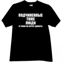 Subordinated - too People Funny Russian T-shirt in black