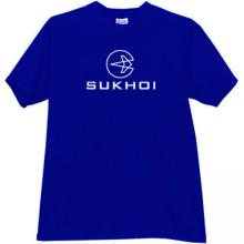 Sukhoi Russian Military Aircraft Manufacturer Logo T-Shirt