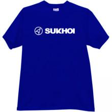 SUKHOI Aviation Corporation New Logo T-shirt in blue