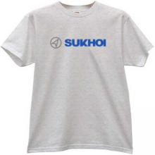 SUKHOI Aviation Corporation New Logo T-shirt in gray