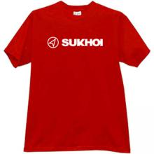 SUKHOI Aviation Corporation New Logo T-shirt in red