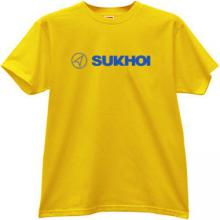 SUKHOI Aviation Corporation New Logo T-shirt in yellow