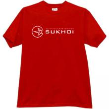SUKHOI Aviation Corporation T-shirt in red