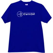 SUKHOI Aviation Corporation Russian T-shirt in blue