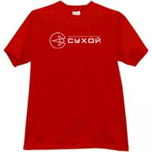 SUKHOI Aviation Corporation Russian T-shirt in red