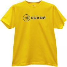 SUKHOI Aviation Corporation Russian T-shirt in yellow
