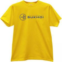 SUKHOI Aviation Corporation T-shirt in yellow