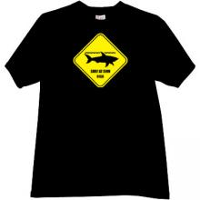 Surf at Own Risk Funny T-shirt in black
