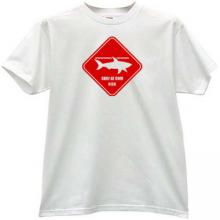 Surf at Own Risk Funny T-shirt in white