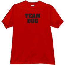 Team Dog T-shirt in red