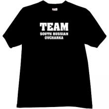 Team South Russian Ovcharka T-shirt in black
