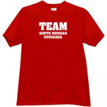 Team South Russian Ovcharka T-shirt in red