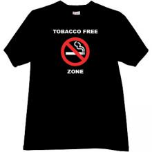 Tobacco Free Zone T-shirt in black