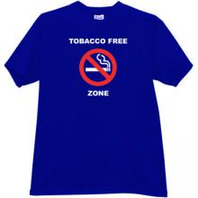 Tobacco Free Zone T-shirt in blue