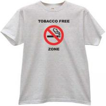 Tobacco Free Zone T-shirt in gray