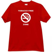 Tobacco Free Zone T-shirt in red
