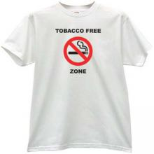 Tobacco Free Zone T-shirt in white