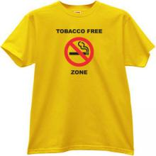 Tobacco Free Zone T-shirt in yellow