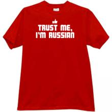 Trust Me, Im Russian New Funny T-shirt in red
