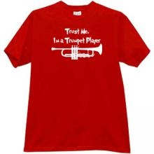 Trust Me, Im a Trumpet Player T-shirt in red